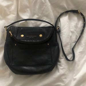 Marc Jacobs Black Leather Crossbody-EUC!